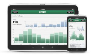 gauges instead of google analytics