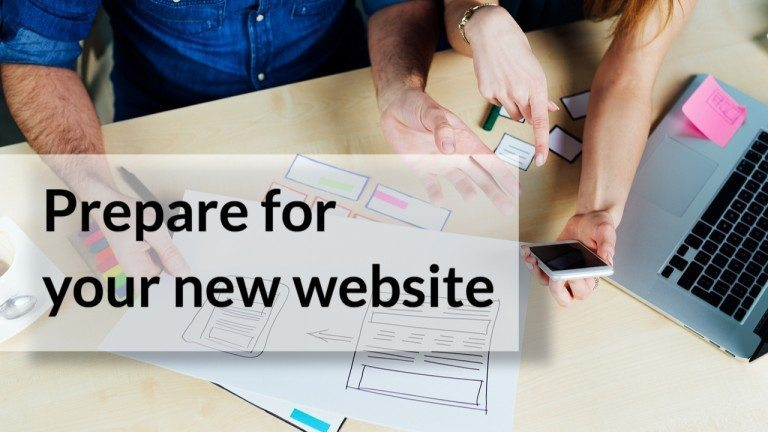 what to prepare for your new website