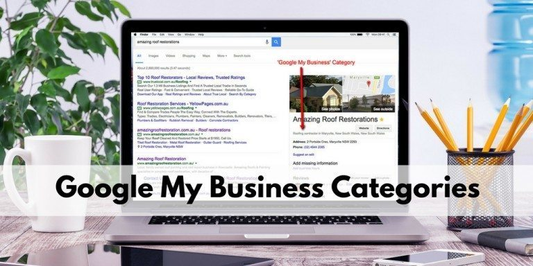 google australia maps business categories