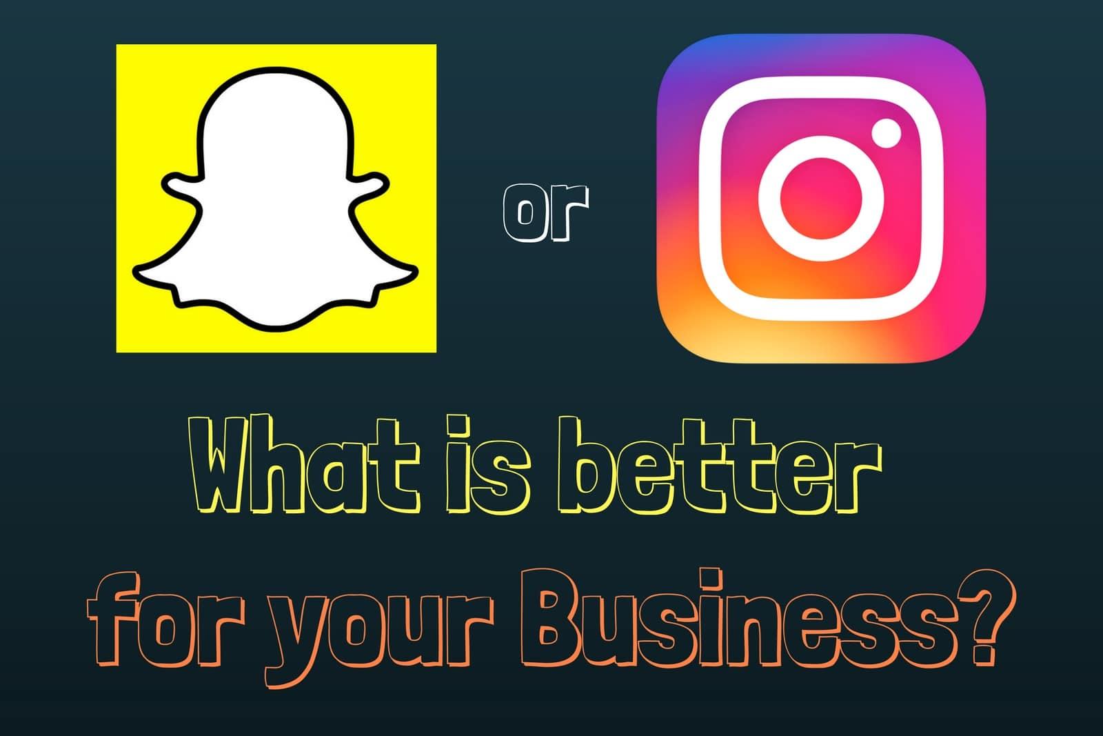 snapchat or instagram