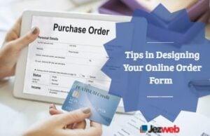 Tips in Designing Your Online Order Form