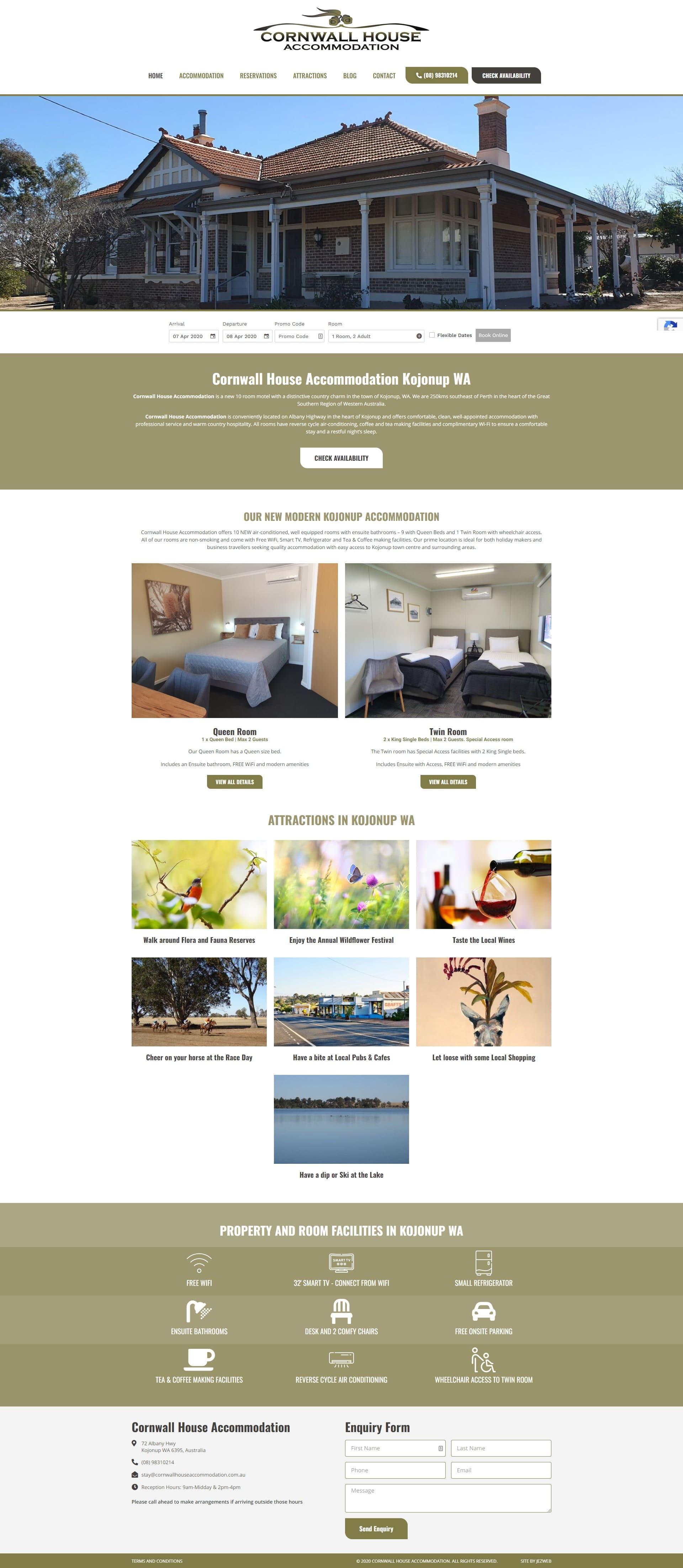 Cornwall House Accommodation -