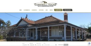 Cornwall House Accommodation Website Design & SEO Northern Rivers NSW - JezNorthWeb