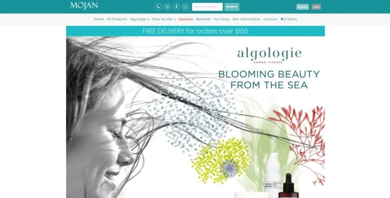 Mojan Beauty Website Design & SEO Northern Rivers NSW - JezNorthWeb
