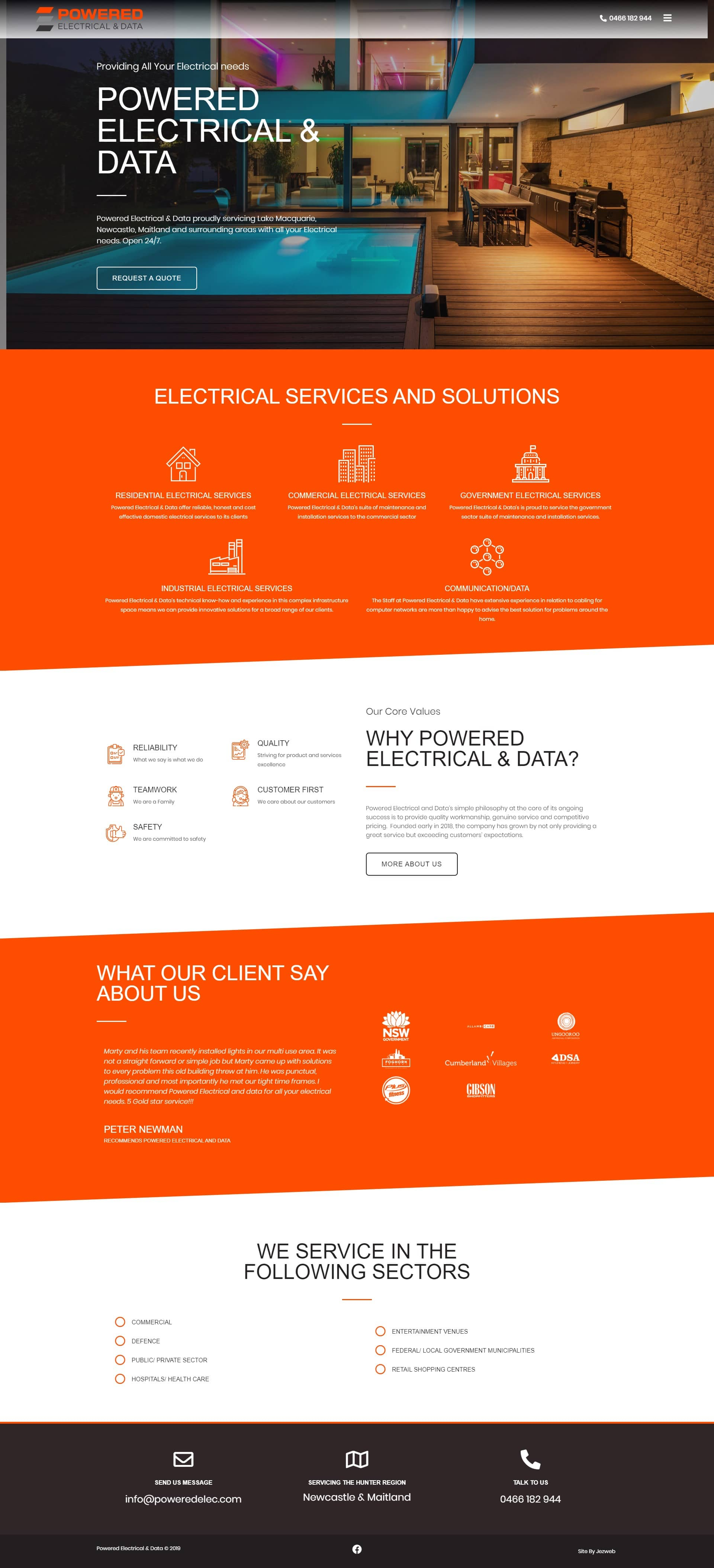 Powered Electrical and Data -