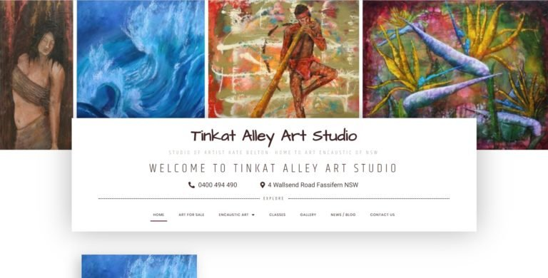 Tinkat Alley Art Studio Website Design & SEO Northern Rivers NSW - JezNorthWeb