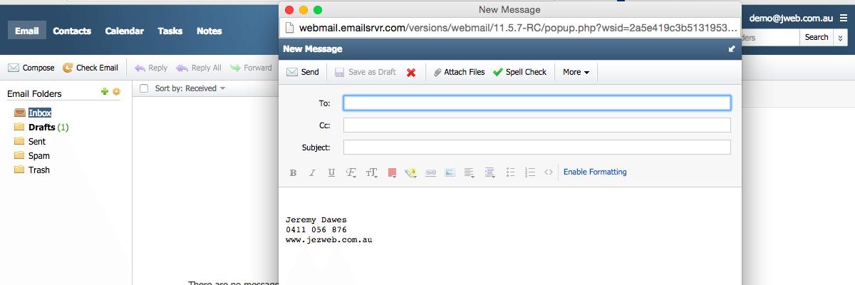 Configure Webmail - Configure Webmail