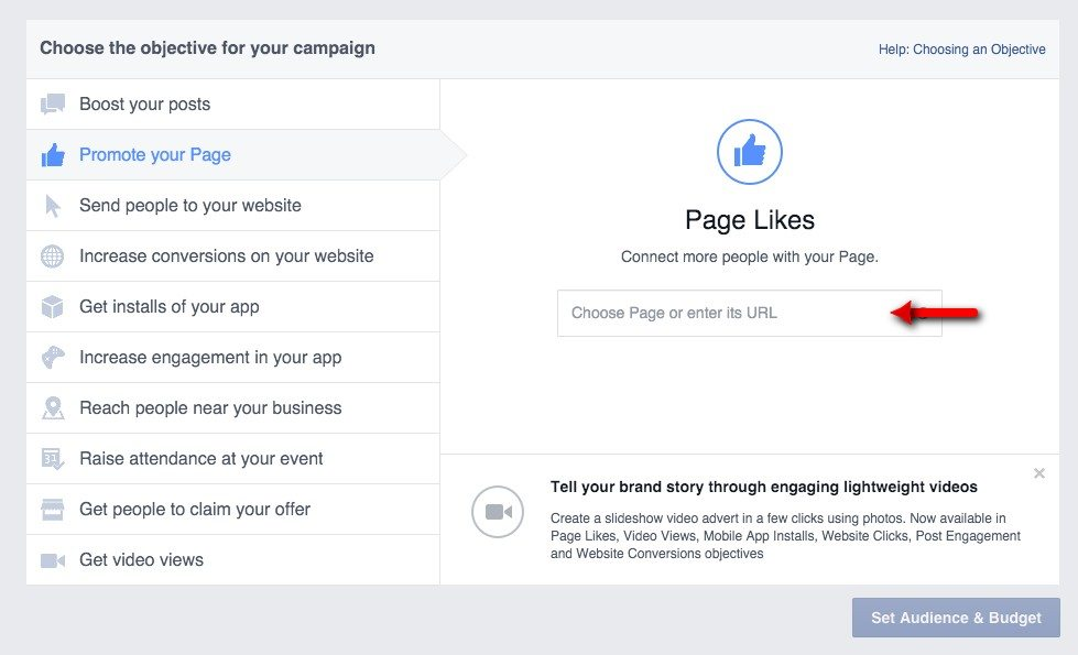 03-Adverts-Manager-Choose-your-page-to-promote
