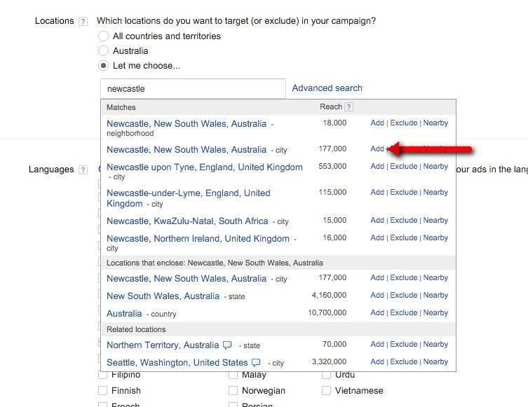 05-Campaign-Management-–-Google-AdWords-Select-the-city-areas-or-regions-that-are-to-be-targeted