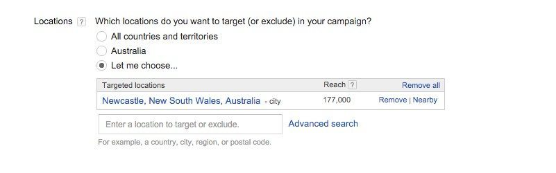 06-Campaign-Management-–-Google-AdWords-The-city-area-is-selected