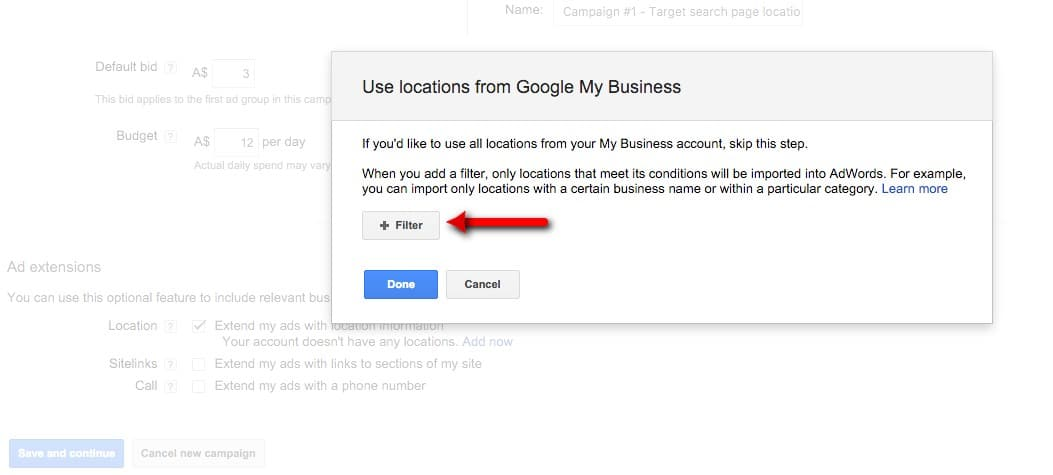 10-Campaign-Management-–-Google-AdWords-Setup-an-ad-extension-location