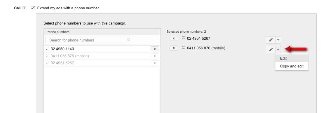 20-Campaign-Management-–-Google-AdWords-Edit-the-phone-numbers-options