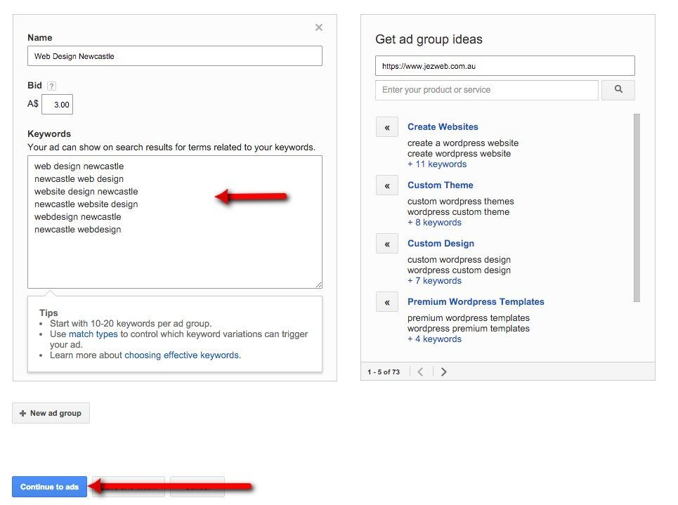 24-Campaign-Management-–-Google-AdWords-You-can-add-extra-ad-groups-if-you-want-then-continue-to-ads