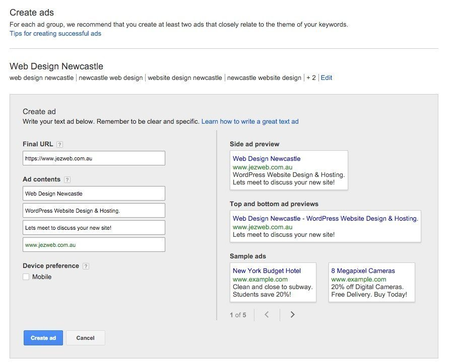 25-Campaign-Management-–-Google-AdWords-The-ad-title-is-the-main-keyword-then-call-to-action-descriptions