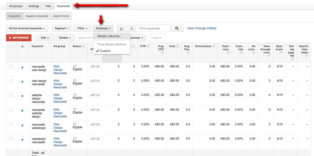 36-Campaign-Management-–-Google-AdWords-Modify-columns