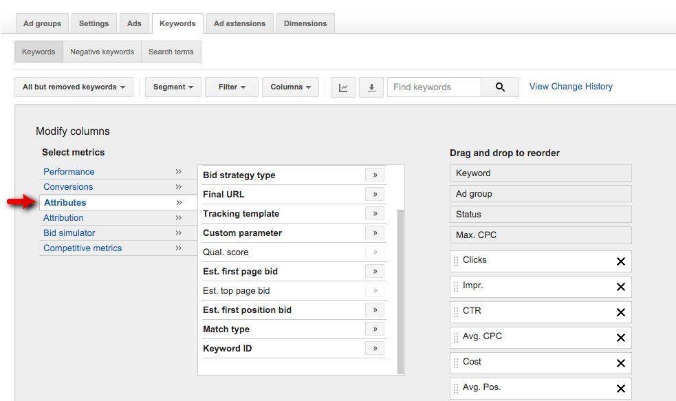 38-Campaign-Management-–-Google-AdWords-Attributes-Quality-Score-and-est-top-page-bid