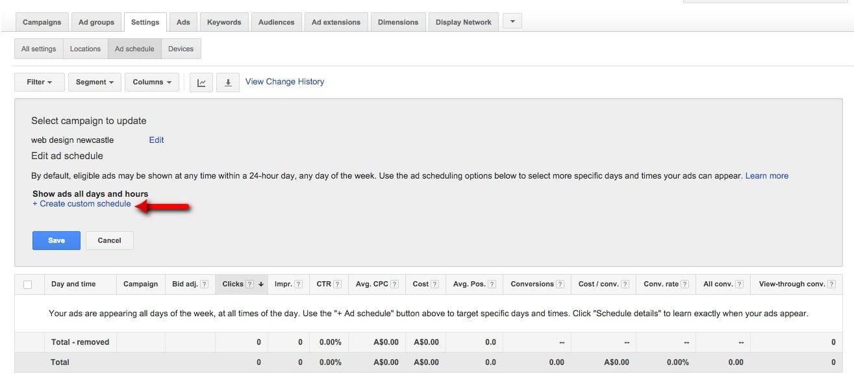 48-Campaign-Management-–-Google-AdWords-Create-custom-schedule