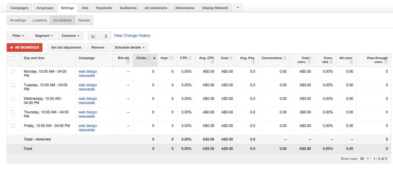 52-Campaign-Management-–-Google-AdWords-Click-save-and-you-will-see-the-schedule-list