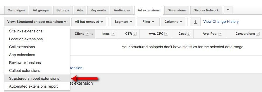 66-Campaign-Management-–-Google-AdWords-Select-structured-snippet-extensions