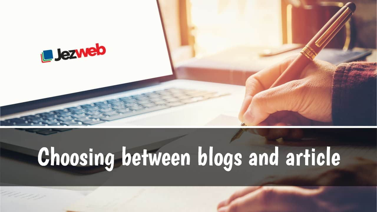 Blogs vs. Articles: Is There a Difference? -