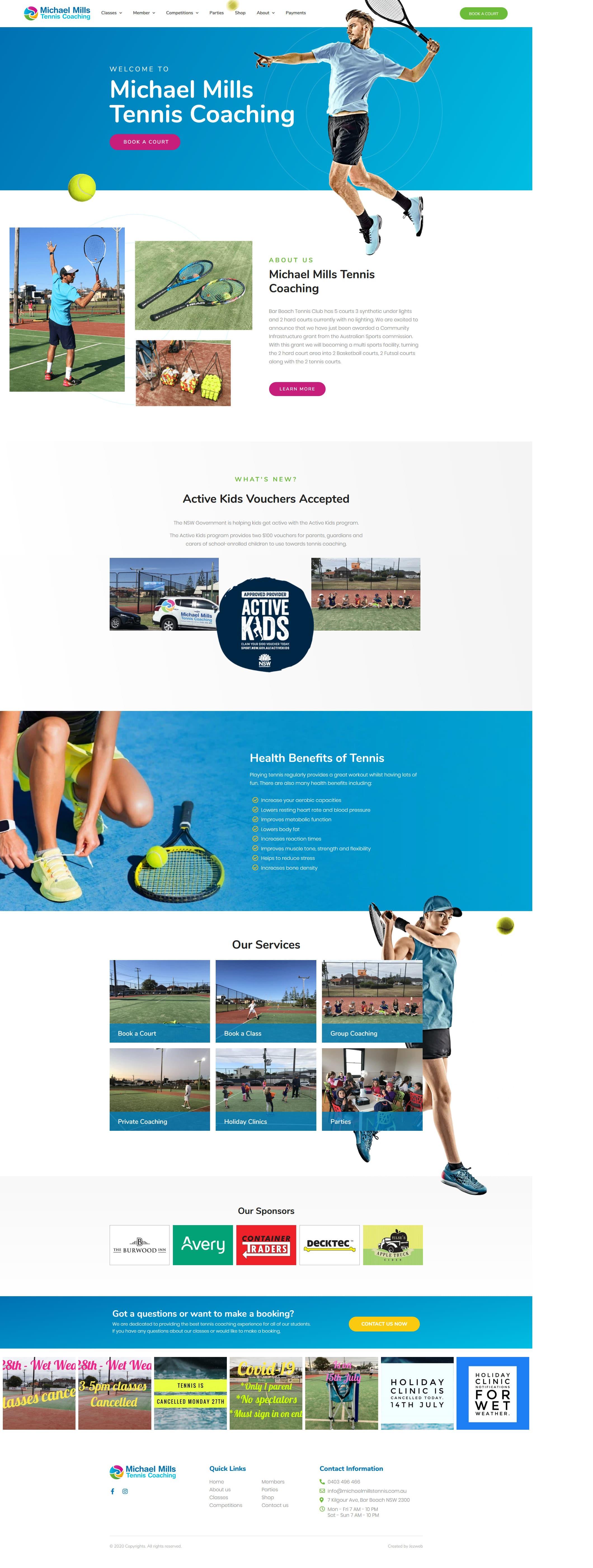 Michael Mills Tennis Coaching -