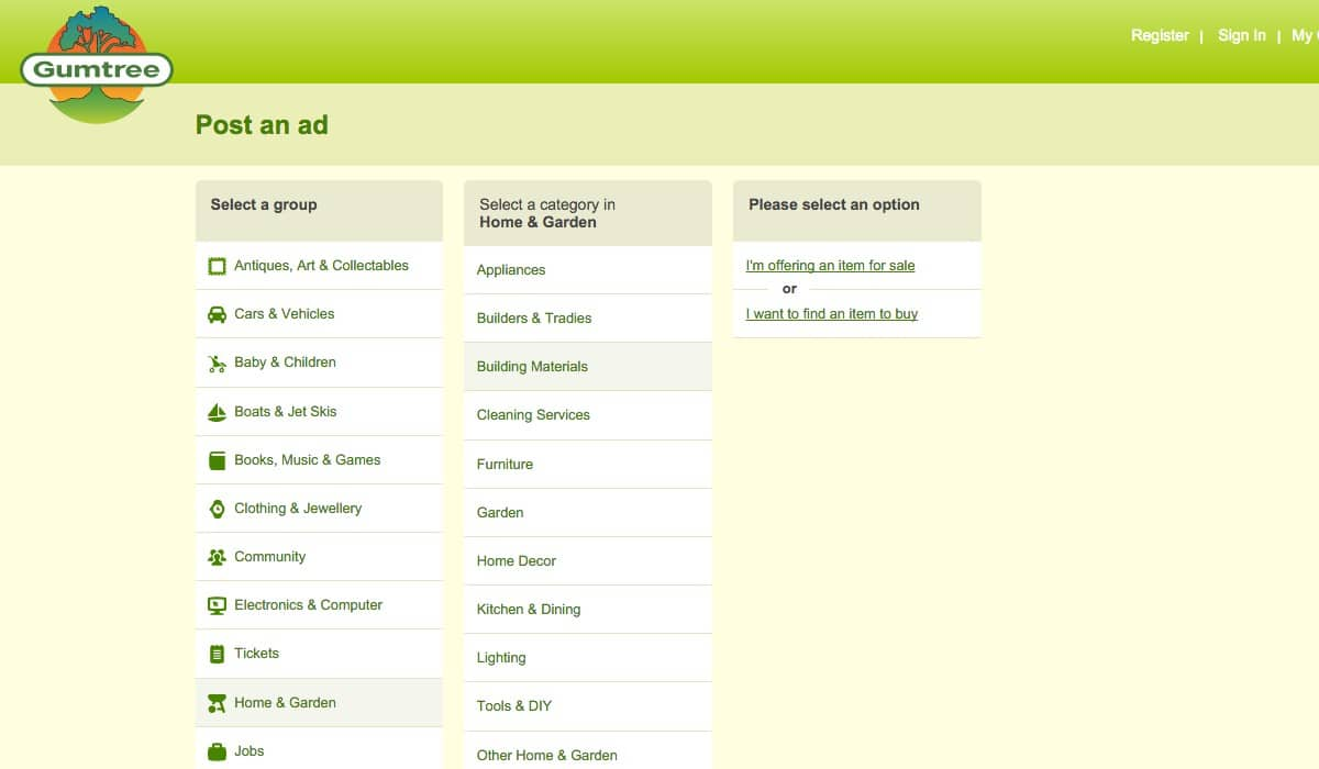 gumtree-04-choose-option-for-item-to-buy-or-sell