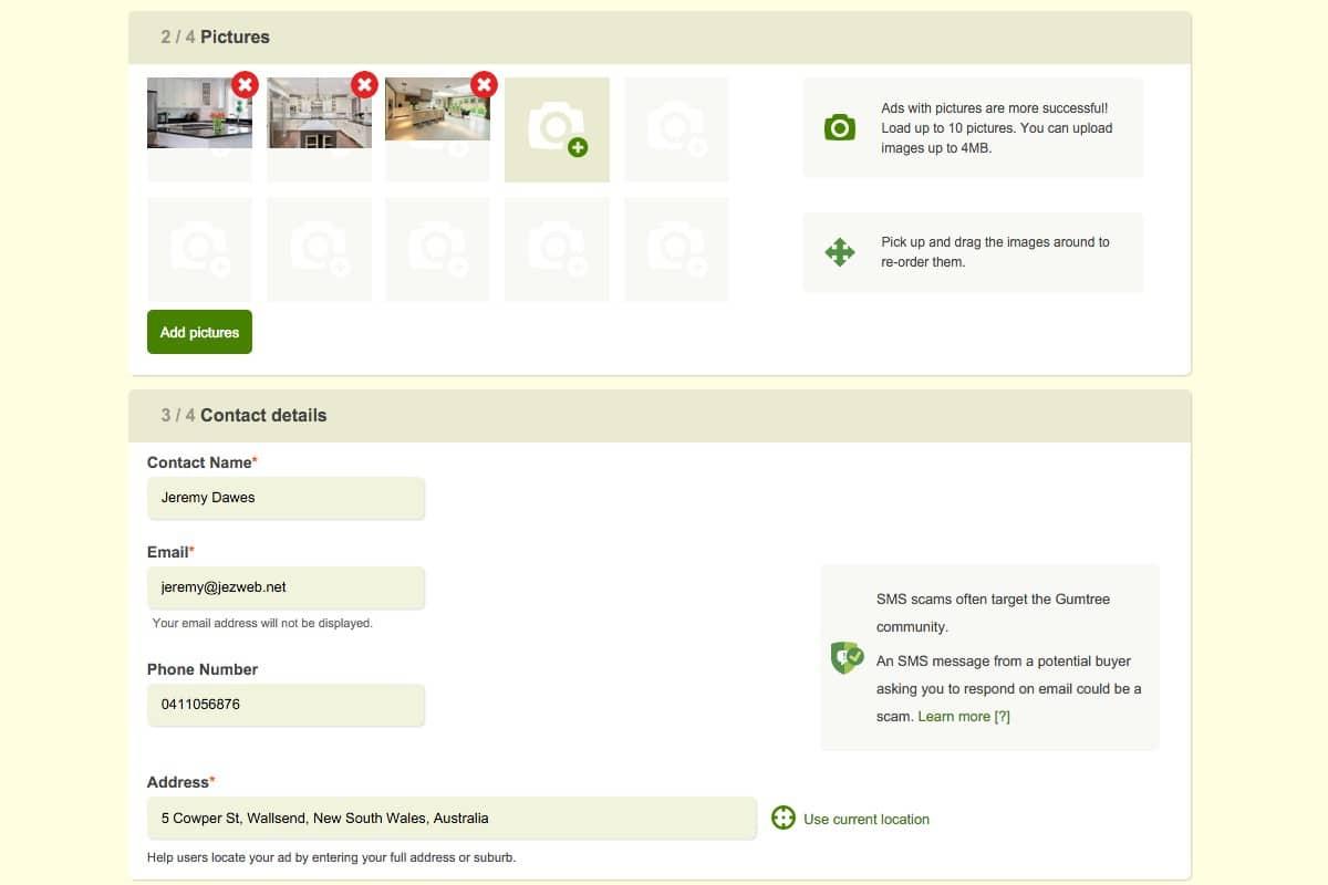 gumtree-07-upload-up-to-10-images-and-enter-contact-details