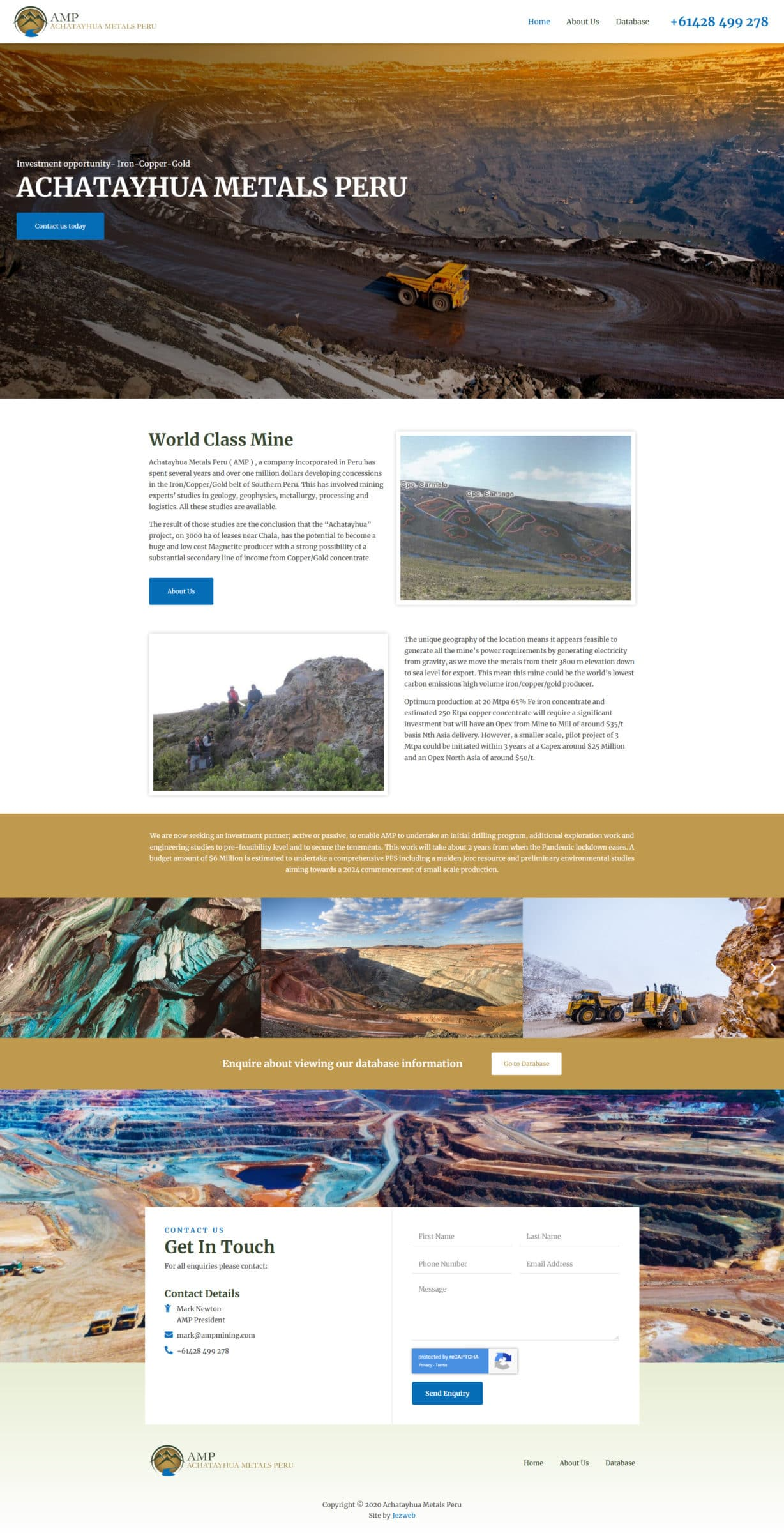 Achatayhua Metals Peru -