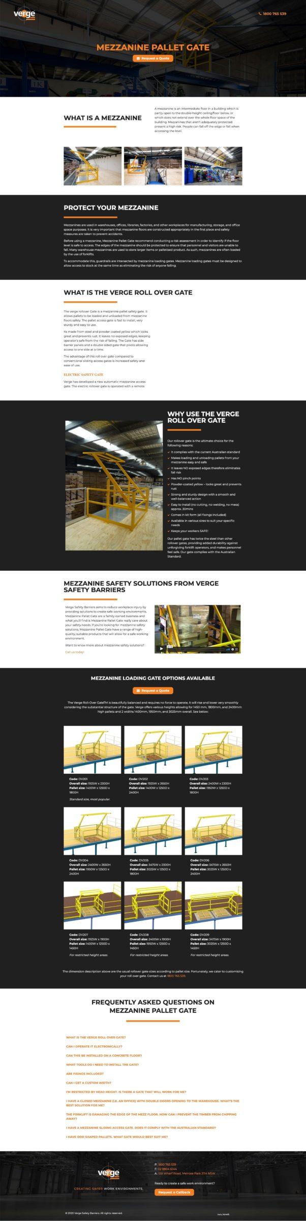 mezzanine pallet gate website