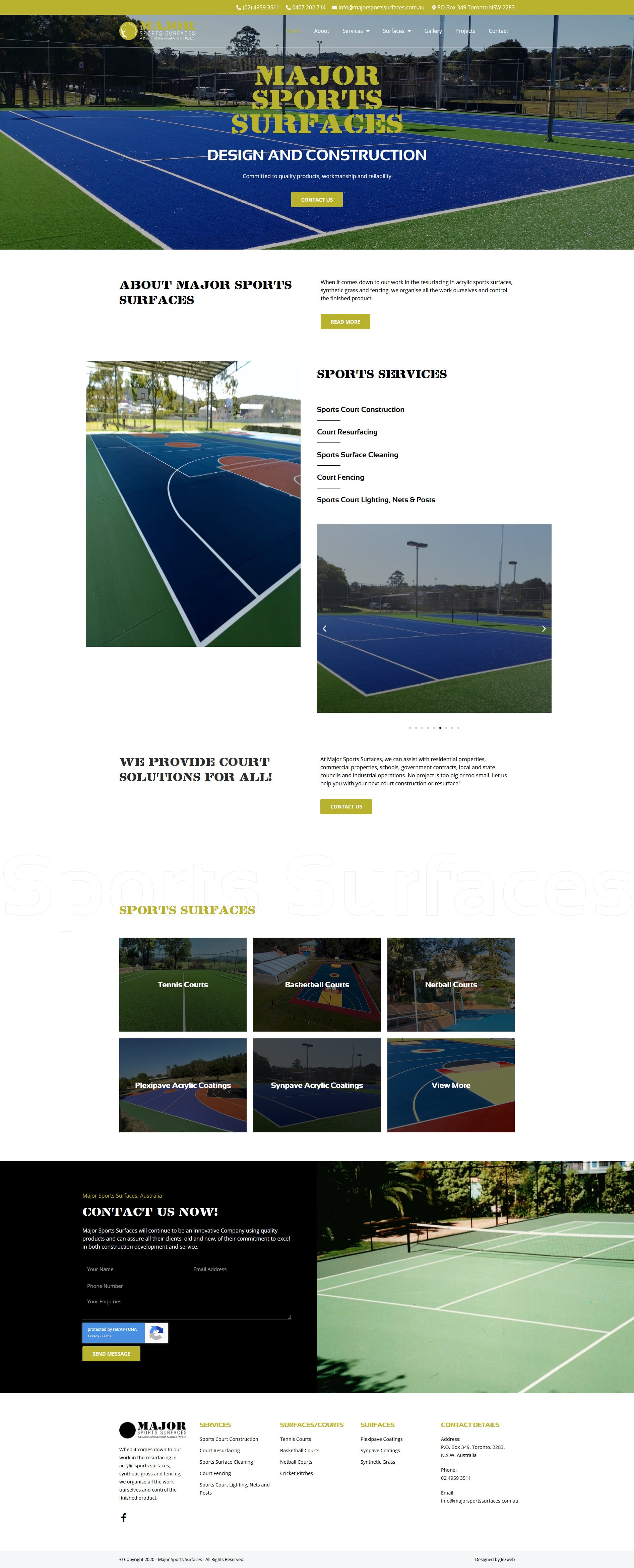 Major Sports Surfaces -
