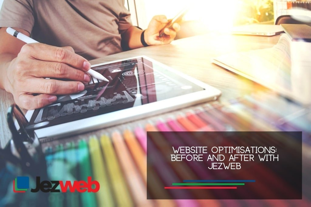 Website Optimisations Before and after with Jezweb
