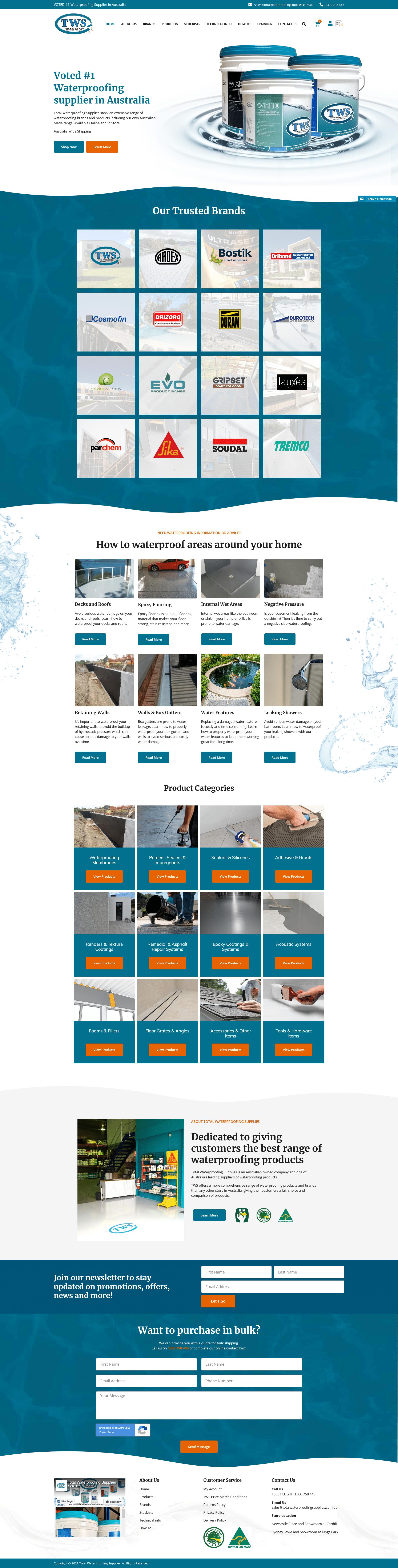 Total Waterproofing Supplies -