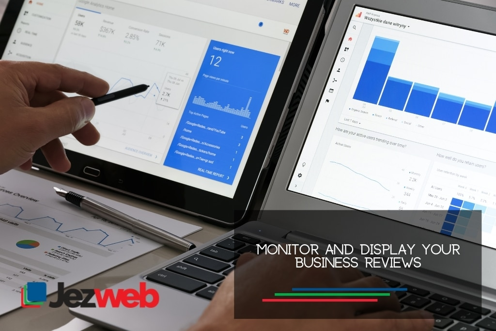 Monitor and display your business reviews
